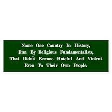 Fundamentalists (Green) Bumper Bumper Sticker