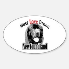 Newfoundland Must Love Oval Decal