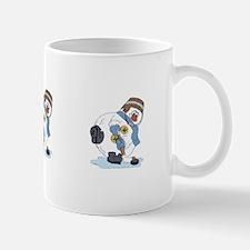 Hockey Playing Snowman Mug