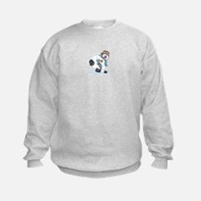 Hockey Playing Snowman Sweatshirt