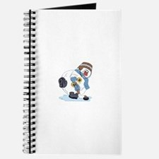 Hockey Playing Snowman Journal