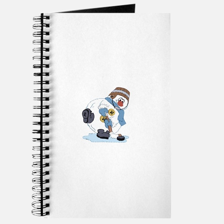 Hockey Playing Snowman Journal