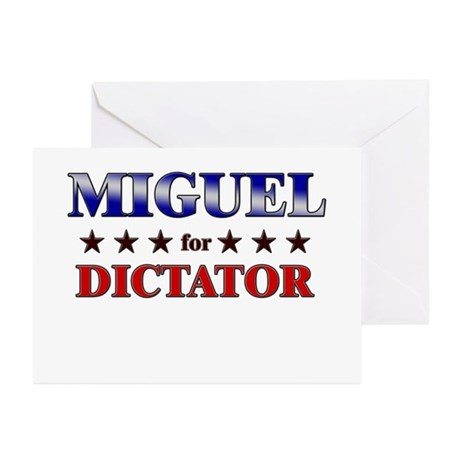MIGUEL for dictator Greeting Cards (Pk of 20)