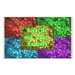 Luck of the Irish Rectangle Sticker