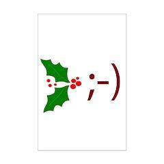 Wink Emoticon - Mistletoe Posters