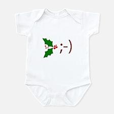 Wink Emoticon - Mistletoe Infant Bodysuit