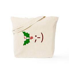 Wink Emoticon - Mistletoe Tote Bag