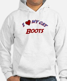 I Love My Cat Boots Hoodie