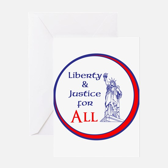 Liberty and Justice for All Greeting Cards