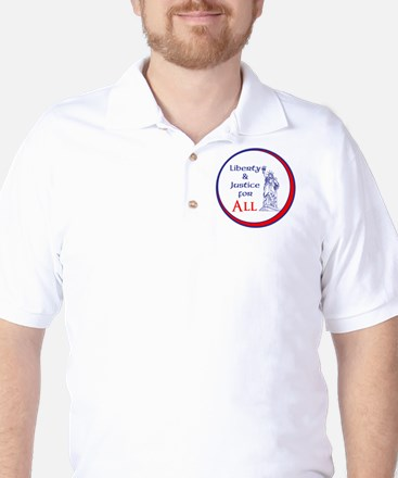 Liberty and Justice for All Golf Shirt