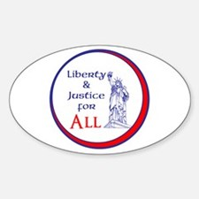 Liberty and Justice for All Decal