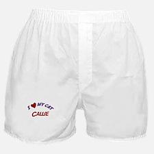 I Love My Cat Callie Boxer Shorts