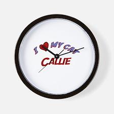 I Love My Cat Callie Wall Clock