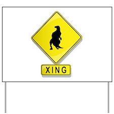 Iguanodon XING Yard Sign