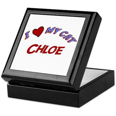I Love My Cat Chloe Keepsake Box