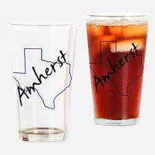 Amherst Texas Drinking Glass