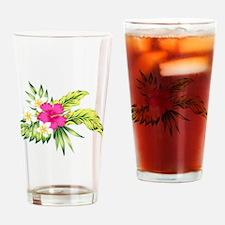 Unique Hibiscus Drinking Glass