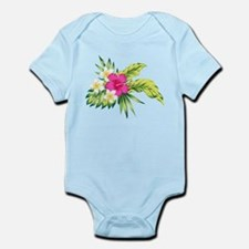 Pink Hibiscus Tropical Flowers Body Suit