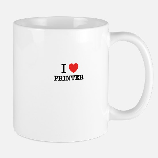 I Love PRINTER Mugs