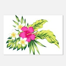 Pink Hibiscus Tropical Fl Postcards (Package of 8)