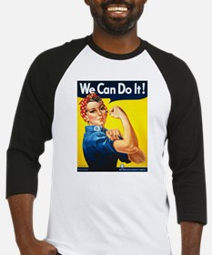 Rosie The Riveter-We Can Do It! Baseball Jersey
