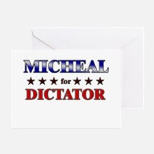 MICHEAL for dictator Greeting Card