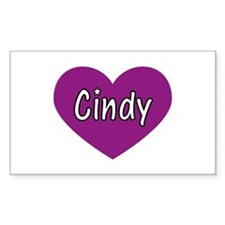 Cindy Rectangle Decal