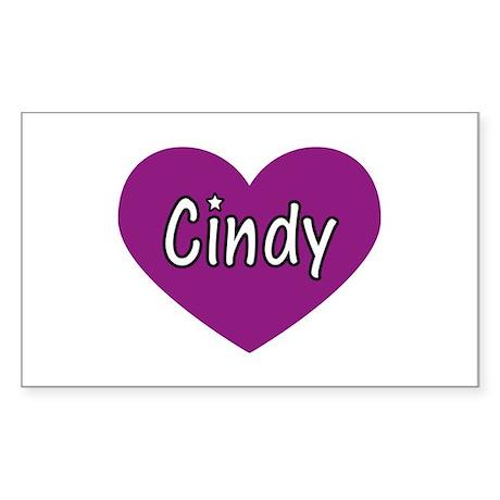 Cindy Rectangle Sticker