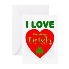I Love Everything Irish Greeting Cards (Package of