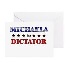 MICHAELA for dictator Greeting Card