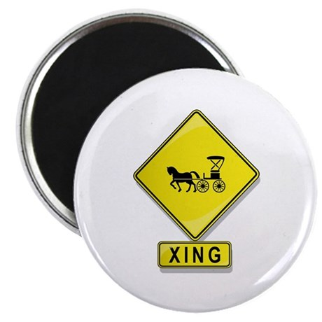 "Horse and Buggy XING 2.25"" Magnet (10 pack)"