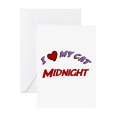 I Love My Cat Midnight Greeting Card