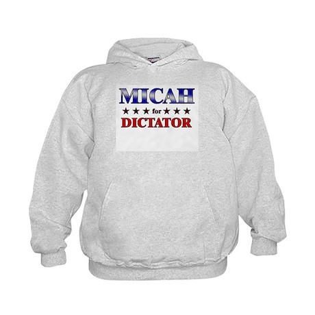 MICAH for dictator Kids Hoodie