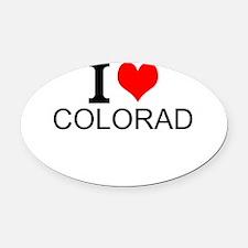 I Love Colorado Oval Car Magnet