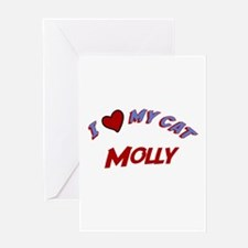 I Love My Cat Molly Greeting Card
