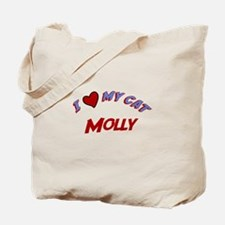 I Love My Cat Molly Tote Bag