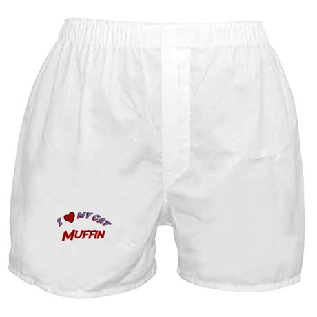 I Love My Cat Muffin Boxer Shorts