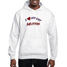 I Love My Cat Muffin Hoodie