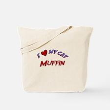 I Love My Cat Muffin Tote Bag
