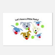 Unique Pittie Postcards (Package of 8)