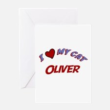 I Love My Cat Oliver Greeting Card