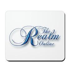 Realm Blue Script Mousepad