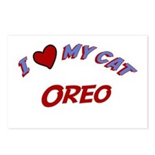 I Love My Cat Oreo Postcards (Package of 8)