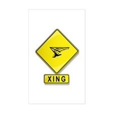 Hang Glider XING Rectangle Decal