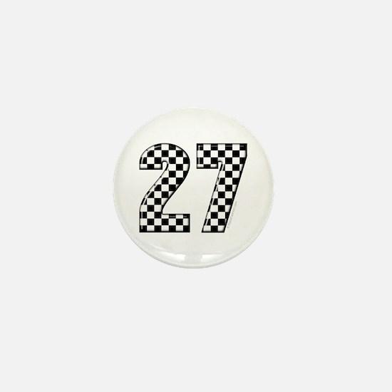 Racing #27 Mini Button