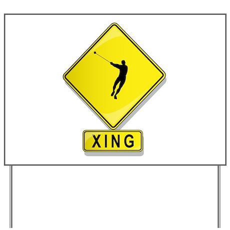 Hammer Tosser XING Yard Sign
