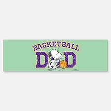 Snoopy - Basketball Dad Full Bleed Bumper Bumper Bumper Sticker