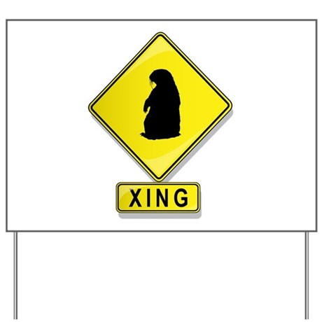 Groundhog XING Yard Sign