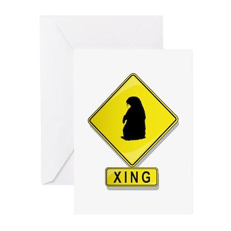 Groundhog XING Greeting Cards (Pk of 10)