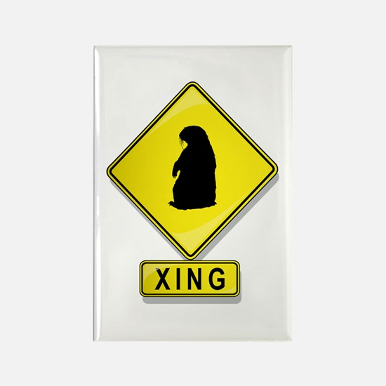 Groundhog XING Rectangle Magnet